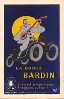 Illustrateur MICH -AUTOMOBILE PUBLICITE - LA BOUGIE BARDIN -PIERROT Sur Une Automobile. - Mich