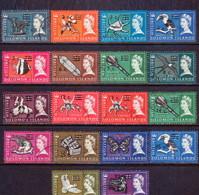 BRITISH SOLOMON ISLANDS 1967 SG #135B-52B Compl.set Used Decimal Currency Wmk Sideways - British Solomon Islands (...-1978)