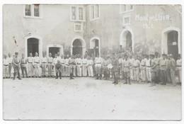 Montpellier Carte Photo Groupe De Militaire Dans Leur Caserne Montpellier 1932 - Montpellier