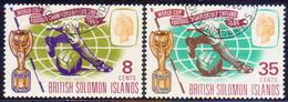 BRITISH SOLOMON ISLANDS 1966 SG #153-54 Compl.set Used World Cup Football - British Solomon Islands (...-1978)