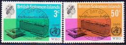 BRITISH SOLOMON ISLANDS 1966 SG #155-56 Compl.set Used WHO Headquarters - British Solomon Islands (...-1978)