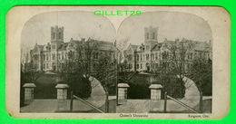 CARTES  STÉRÉOSCOPIQUES - QUEEN'S UNIVERSITY, KINGSTON, ONTARIO - - Stereoskopie