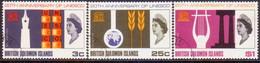 BRITISH SOLOMON ISLANDS 1966 SG #157-59 Compl.set Used UNESCO - British Solomon Islands (...-1978)