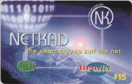 Brunei - BruNet - NETKAD (Blue) The Smart Way To Net, Prepaid 15$, Used - Brunei