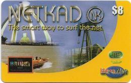 Brunei - BruNet - NETKAD (Boat) The Smart Way To Net, Prepaid 8$, Used - Brunei