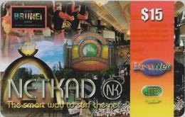 Brunei - BruNet - NETKAD (Icons Collage) The Smart Way To Net, Prepaid 15$, Used - Brunei