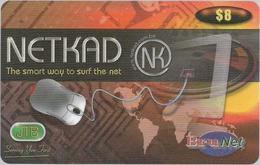 Brunei - BruNet - NETKAD (Orange) The Smart Way To Net, Prepaid 8$, Used - Brunei