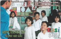 Brunei - DstCom - Easi - Happy Teachers Day, Prepaid 45$, Used - Brunei