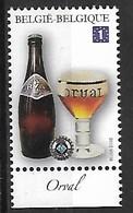 OCB Nr 4197 Orval  Beer Biere Bier Serveza Birra Cerveja MNH !! Trappist Tarief Europe - Unused Stamps