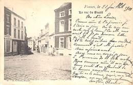 Fosses - La Rue Du Postil (1900, E. Godard, Horloger, Charcutier) - Fosses-la-Ville