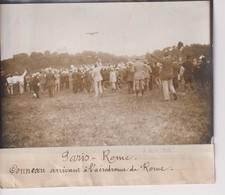 PARIS ROME CONNEAU ARRIVANT À L'AÉRODROME DE ROME  18*13CM Maurice-Louis BRANGER PARÍS (1874-1950) - Aviación