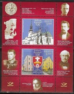 ESTONIA , 2019, MNH, EDUCATION, RELIGION, 700th ANNIVERSARY OF TALLINN CATHEDRAL SCHOOL, SHEETLET OF 2v - Architecture
