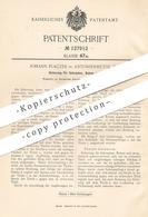 Original Patent - Johann Placzek , Antonienhütte , 1901 , Sicherung Für Schrauben , Bolzen   Schlosser , Schlosserei !!! - Historische Dokumente
