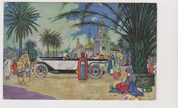 Automobili Mercedes, Stoccarda, Pubblicitaria, Illustrata, Timbro Al Retro Carlo Saporiti  - F.p. - Anni '1920 - Advertising