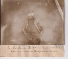 CAPITAINE MADIOT SE TUER CHUTE AEROPLANE A DOUAI  18*13CM Maurice-Louis BRANGER PARÍS (1874-1950) - Aviación