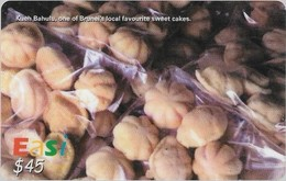 Brunei - DstCom - Easi - Kuih Bahulu Sweet Cakes, Prepaid 45$, Used - Brunei