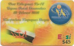 Brunei - DstCom - Easi - Memperkasa Keupauaan Bangsa, Prepaid 45$, Used - Brunei