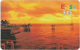 Brunei - DstCom - Easi - Oil Rig, Prepaid 45$, Used - Brunei