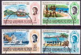 BRITISH SOLOMON ISLANDS 1968 SG #162-65 Compl.set Used Quatercentenary Of Discovery Of Solomon Islands - British Solomon Islands (...-1978)