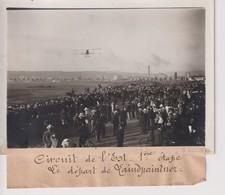 CIRCUIT DE L'EST 1ERE ÉTAPE LE DÉPART DE LINDPAINTNER   18*13CM Maurice-Louis BRANGER PARÍS (1874-1950) - Aviación