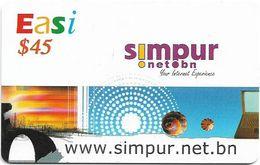 Brunei - DstCom - Easi - Simpur.Net.bn, Prepaid 45$, Used - Brunei
