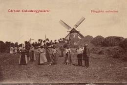 Humgary, Kiskunfelegyhaza, Windmill, Farmers - Ungheria