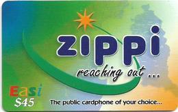 Brunei - DstCom - Easi - Zippi Reaching Out, Prepaid 45$, Used - Brunei