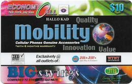 Brunei - JTB - Cellular Accessories, Prepaid 10$, Used - Brunei