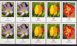 2007 Deutschland  Allem.Fed.  Mi. 2480 2471 2484  **MNH Blumen - Teilgezähnt - Ongebruikt