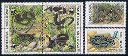 Moldavie - Serpents 44/49 (année 1993) Oblit. - Serpents