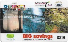 Brunei - JTB - Escape To The Forests Of Emerald Enchantments, Prepaid 10$, Used - Brunei