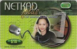 Brunei - JTB - NETKAD Plus (Green), Call & Surf Smarter, Prepaid 10$, Used - Brunei