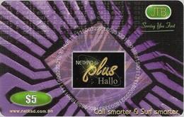 Brunei - JTB - NETKAD Plus (Purple), Call & Surf Smarter, Prepaid 5$, Used - Brunei