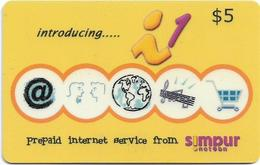 Brunei - Simpur.Net.bn - Introducing... (yellow), Prepaid 5$, Used - Brunei