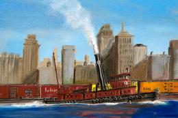 №184.32 Postcard Modern Rare New Freight Train Locomotive Railway - Tugboats