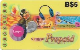 Brunei - Simpur.Net.bn - Log-In And Surf, Prepaid 5$, Used - Brunei
