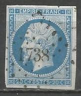 FRANCE - Oblitération Petits Chiffres LP 1738 LISIEUX (Calvados) - Marcofilie (losse Zegels)