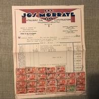 FACTURE ETS. JOS. MORRAYE GAND ATELIERS DE CONSTRUCTION ABONDAMMENT TILBREE 1934 - Belgique
