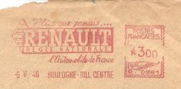 EMA HAVAS Type G De 1946 Avec Publicité Plus Que Jamais RENAULT Régie Nationale L'automobile De France - Cars