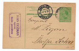 1928 YUGOSLAVIA, SLOVENIA, BOHINJSKA BISTRICA -LJUBLJANA TPO 71, TO ŠKOFJA LOKA, STATIONERY CARD - Postal Stationery