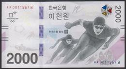 South Korea 2000 Won 2018 Winter Olympic Games Pyeong Chang 2018 In Folder UNC - Corea Del Sur