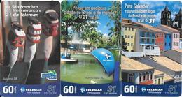 3-CARTES-BRESIL-PAYSAGES-TBE-RARE - Brésil
