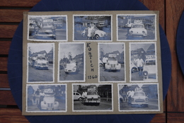 1960 Lot Echte Foto 10 Off Oldtimers Ijskreem Glace VDB Dendermonde Kever Renault  Citroen Opel E.a. Zeldzaam - Automobiles