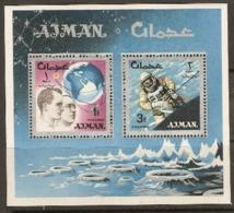 Ajman  1966  SG  94  Space Acheivements   Miniature Sheet  Unmounted Mint - Ajman