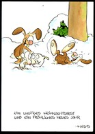 C7175 - Leendert Jan Vis Humor Scherzkarte Hase - Weihnachten - Humor