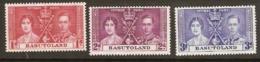 Basutoland  1937 SG  15-7  Coronation   Mounted Mint - 1933-1964 Crown Colony
