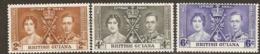 British Guiana  1937  SG  305-7  Coronation   Mounted Mint - British Guiana (...-1966)