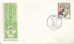 PERU 1992 ANTONIO RAIMONDI AND FLOWER, NATURALIST,  1890 1990 FDC COVER - Perú