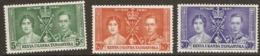 Kenya Uganda Tanganyika  1937  SG  128-30  Coronation  Mounted Mint - Kenya, Uganda & Tanganyika