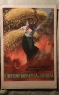 Boccasile Riunione Adriatica Sicurta Carta Assorbente Anni 30/40 - Agricoltura